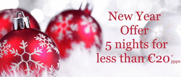 New Year Offer - less than 20 Euros per person per day
